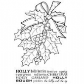 Woodware - Bunch Of Holly - Clear Magic Stamp Set - JGS420